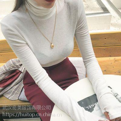 璞秀广州尾货服装批发市场在哪里女装 品牌衣服折扣店加盟尾货白色羽绒裤