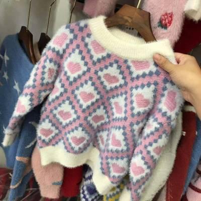工厂低价尾单正品儿童装毛衣便宜清货库存杂款针织衫长袖男女童装