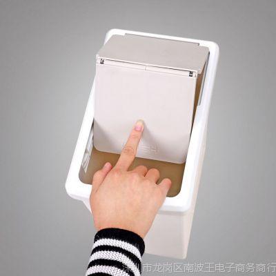卫生间垃圾桶窄形家用推盖式长方形带盖有盖塑料客厅厕所垃圾桶