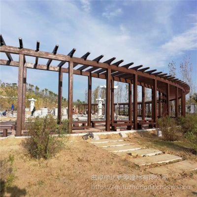 济阳县中达新型建材厂家出售环保水泥仿木长廊景观仿木长廊凉亭