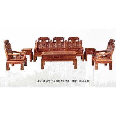 越南大红酸枝沙发-大红酸枝沙发-统发红木制作精巧