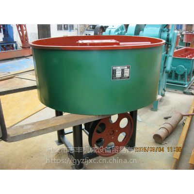 新品电动双轮混砂轮碾机 压辊式轮碾搅拌机 平口砂浆高速混合机