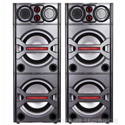 会议婚庆户外有源音响插卡音响大功率双10寸音箱厂家直销
