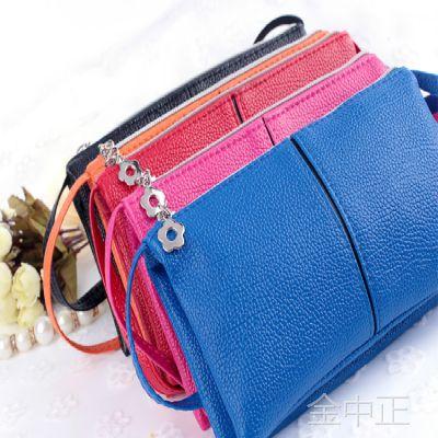 地摊爆款女士钱包韩版pu手机包女长款手拿包零钱包女式小卡包批发