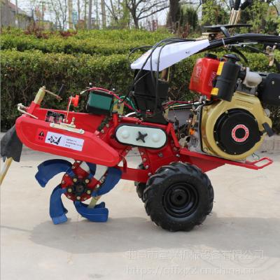 果园旋耕松土机图片图片富兴-操作简单的田园管理机-葡萄园埋藤机