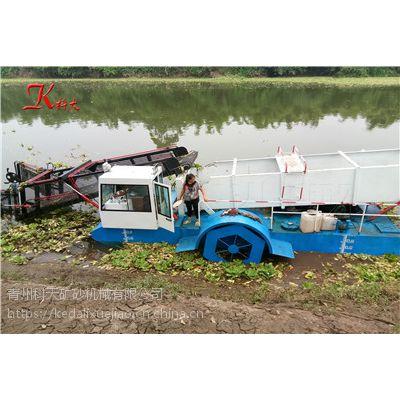优质水浮莲打捞机械 水草收割船图片