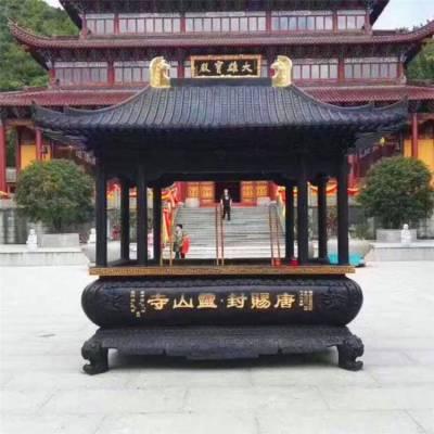 zy502铸铜香炉厂家,铜宝鼎生产厂家,长方形香炉供应