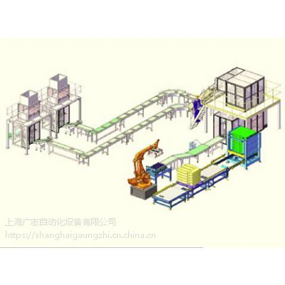 自动码垛视觉寻址机器人灌装生产线上海广志自动化设备