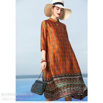 商场里服装是几折拿货利来民族风大摆裙
